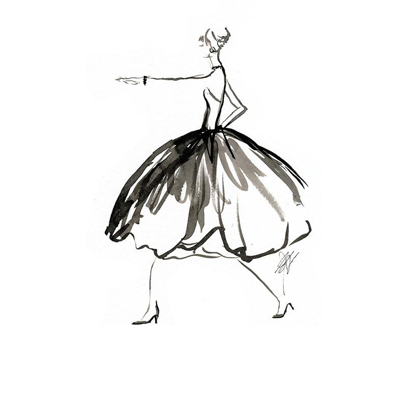 sketchbook fun black and white fashion sketch elaine biss